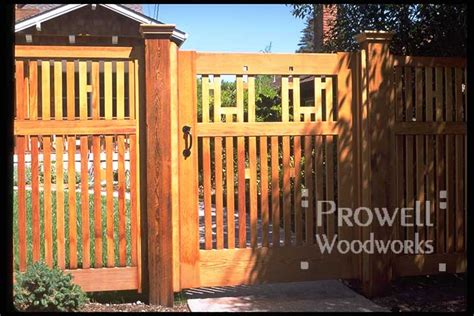 arts  crafts wood gate   prowell woodworks