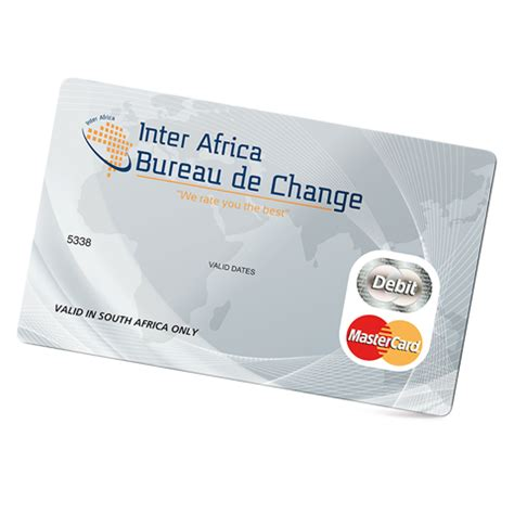 bureau change tours prepaid travel cards inter africa bureau de change