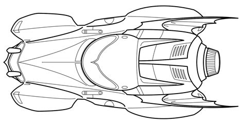 Batmobile Coloring Pages