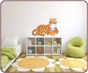 Sticker Chambre Bebe : stickers jungle un sticker tigre pour chambre d 39 enfant ~ Melissatoandfro.com Idées de Décoration