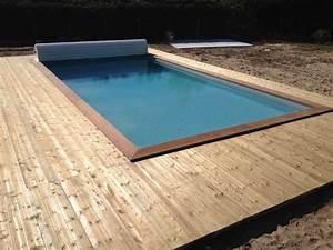 Piscine Sans Margelle : terrasse bois piscine sans margelle ~ Premium-room.com Idées de Décoration