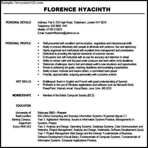 modern resume template pdf free sle templates