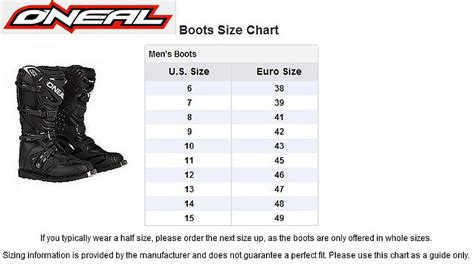 how to size motocross oneal 2015 racing rider boots off road mx motocross