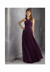 mori lee bridesmaid dress style 20434 eggplant color size With eggplant dresses for weddings