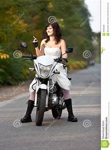 bride on motorcycle stock photo image of bike elope With motorcycle wedding dress