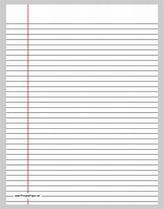 best photos of lined paper template word 2010 lined With notebook paper template for word 2010