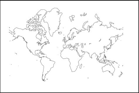 Mapamundi político para imprimir 】Con Nombres Mudo En