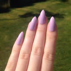 Acrylic Stiletto Nails Matte