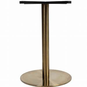 Corten Round Gold Table Base