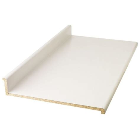 White Laminate Countertops by Hton Bay 6 Ft Laminate Countertop In Frosty White With