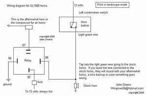 Gl1500  U0026 Gl1800 Horns Wiring Diagram