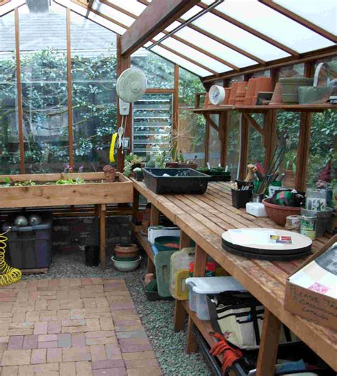 Stunning A Green Home Ideas by Planning Your Greenhouse Interior Interior Design
