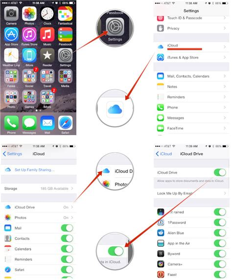 access icloud from iphone how to set up and use icloud drive on iphone and imore
