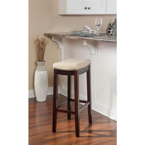 walnut counter stools linon home decor 30 in walnut cushioned bar 3337