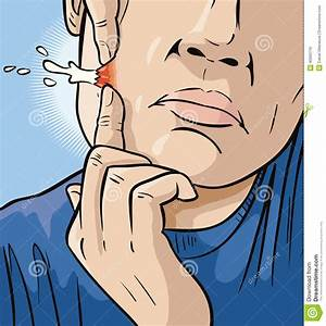 Man Popping Zit Stock Vector - Image: 40993716