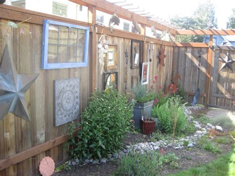 Backyard Fence Decor - decorating your backyard fence for oakland and san francisco