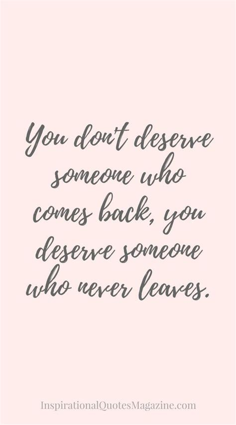 Quotes About Deserving The Best In Relationships