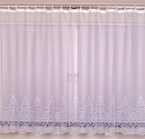 2017 on sale polyester lace big window curtains for lace