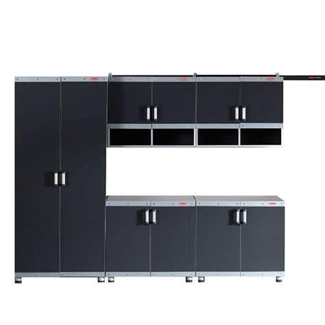 rubbermaid storage cabinets home depot rubbermaid fasttrack garage laminate 5 piece cabinet set
