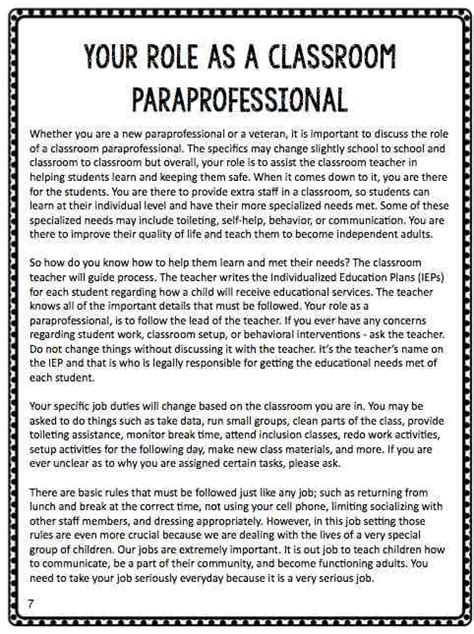 special education preschool teacher job description btse paraprofessional manual coaching 561