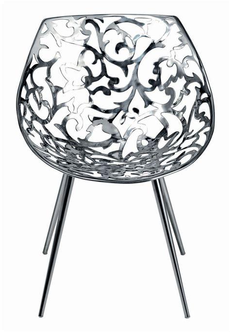 siege starck fauteuil miss lacy acier poli acier driade