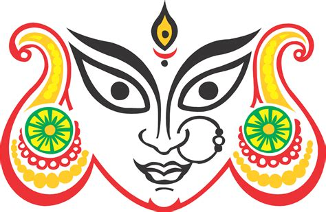 Maa Durga Face Image Png Best Hd Wallpaper
