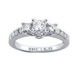 kays engagement ring jewelers style 990876005 white gold princess cut three engagement ring