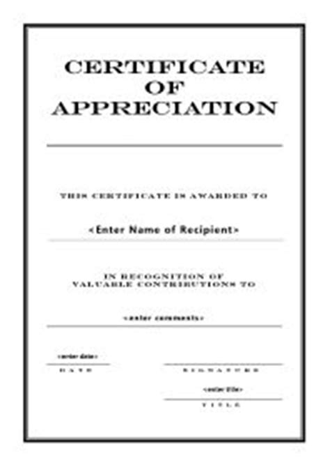 word templates  certificates  appreciation http