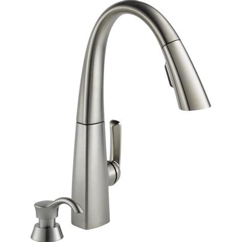 kitchen faucets delta shop delta arc stainless steel 1 handle pull kitchen