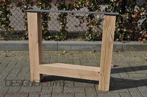 eiken tafelpoot tafelpoten hout designerstyle nl ontwerpt en maakt