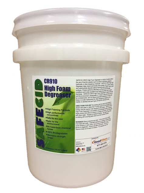 SAFECID CR910 High Foam Degreaser 5 Gallon Container
