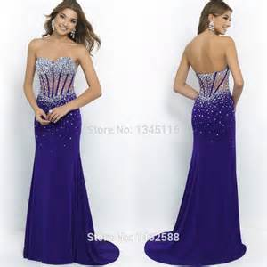 aliexpress bridesmaid dresses beaded sweetheart see through corset purple prom dresses mermaid evening gowns 2015
