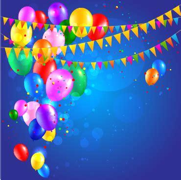 colored confetti  happy birthday background vector