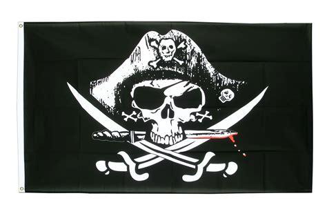 Drapeau Pirate Avec Sabre Sanglant  90 X 150 Cm