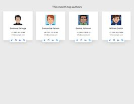 bootstrap snippet bs authors card