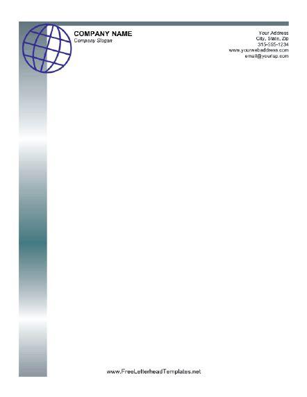 business letterhead  globe