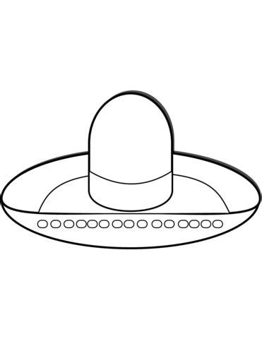 dibujo de sombrero mexicano para colorear dibujos para colorear imprimir gratis