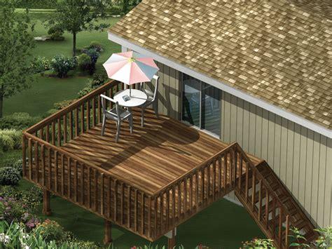 highview raised patio decks plan 002d 3005 house plans