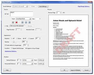 pdf watermarks acrobatix With pdf document watermark