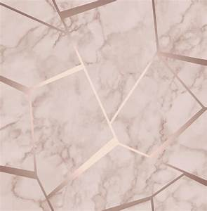 Fine Decor Marblesque Pink Rose Gold Wallpaper FD42264