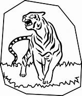Tiger Coloring Pages Tigers Printable Face Cartoon Template Templates Stuff Fun Bestcoloringpagesforkids sketch template