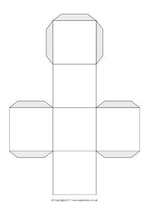 printable cut  templates fans dice games