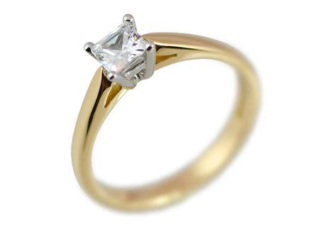 shop engagement rings engagement rings princess cut solitaire engagement ring 18ct gold half carat
