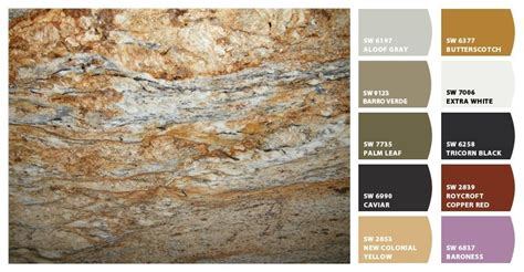 paint colors with yellow river granite homespirations