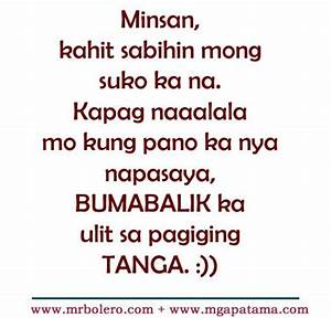 Patama Quotes and Tanga love tagalog quotes collections ...
