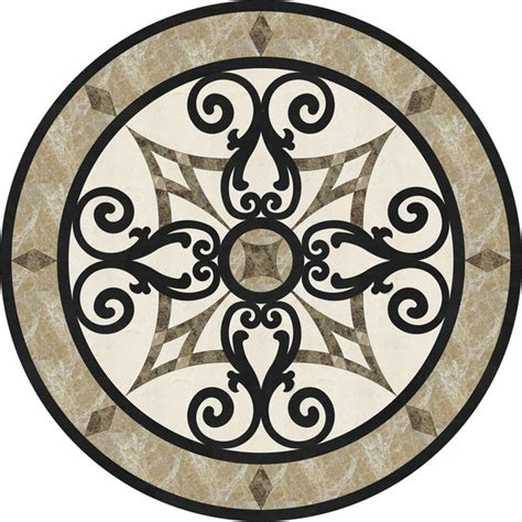 marble medallion 36 quot stone floor medallion waterjet cut marble and granite traditional floor medallions and