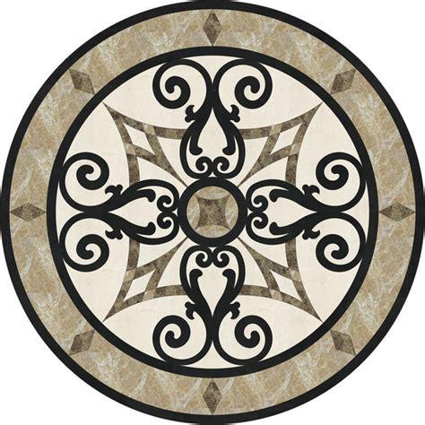 "36"" Stone Floor Medallion Waterjet Cut Marble And Granite"
