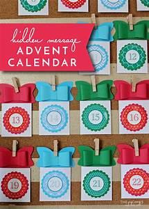 DIY Hidden Holiday Message Advent Calendar | The Homes I ...