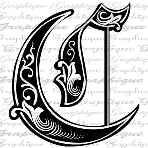letter initial  monogram  engraving style type  graphique abeceda cisla pinterest
