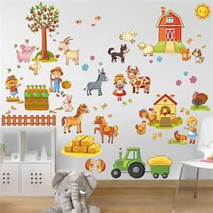 Wandtattoo Tiere Kinderzimmer : wandtattoo kinderzimmer gro es bauernhof set ~ Watch28wear.com Haus und Dekorationen